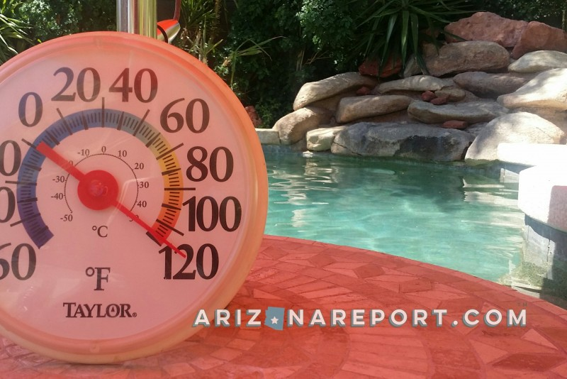 pool thermometer Phoenix Arizona 118F