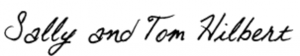 Sally and Tom Hilbert signature in Otto font