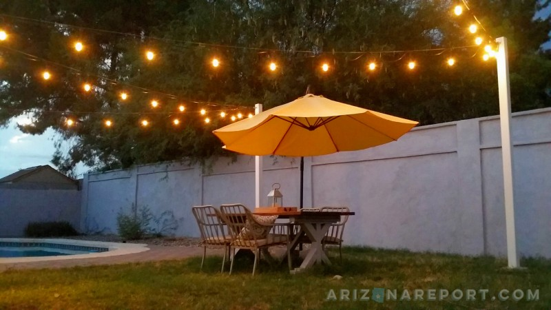 How To Hang String Lights And Cafe Lights The Arizona