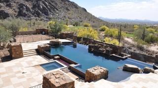 Scottsdale Arizona swimming pools removal rebate program mountains luxury home