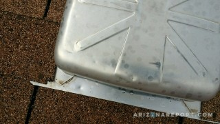 hail damage dented roof box vent