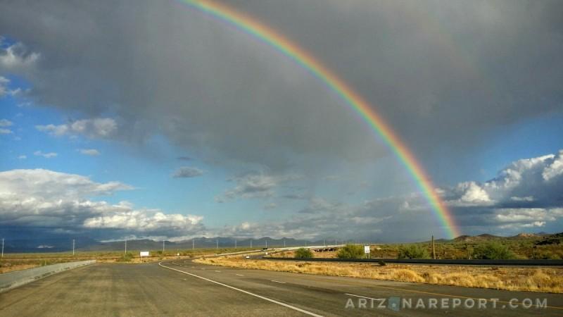 arizona rainbow sonoran desert november