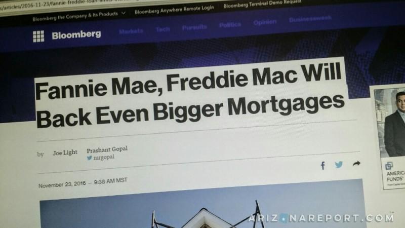 Freddie Fannie home loan limits Arizona