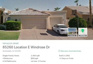 fake zillow real estate ad scammer
