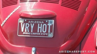 Arizona custom license plate vanity very hot VRY HOT 1971 Volkswagen Beetle