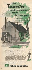 transite asbestos pipe newsweek magazine October 1952