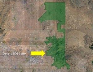 Desert EDGE Scottsdale map DDC red dot yellow arrow