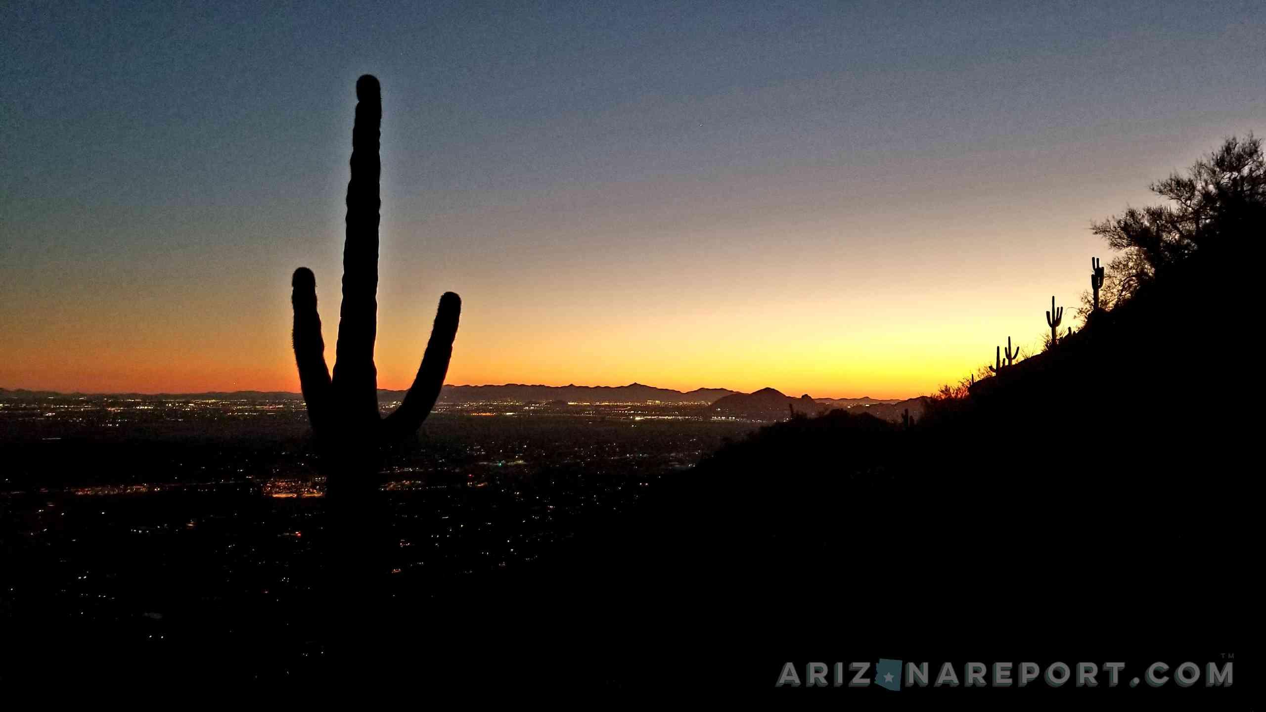 Sunrise Peak Trail Scottsdale Fountain Hills Arizona trail hiking cactus sunset
