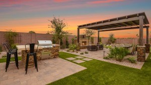 Taylor Morrison home builder rear yard Horizon plan Mesa Arizona