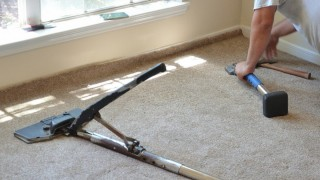 carpet installation labor cost stretching new