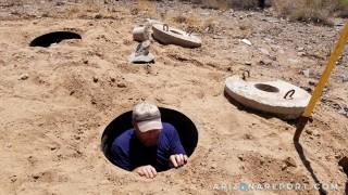 septic tank inside look pump Arizona dirt septic system