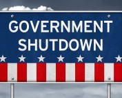 government shutdown sign real estate FHA USDA VA conventional home loans 2018