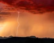storm Arizona dust desert lightning cloud perfect storm