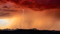 storm Arizona dust desert lightning cloud perfect storm