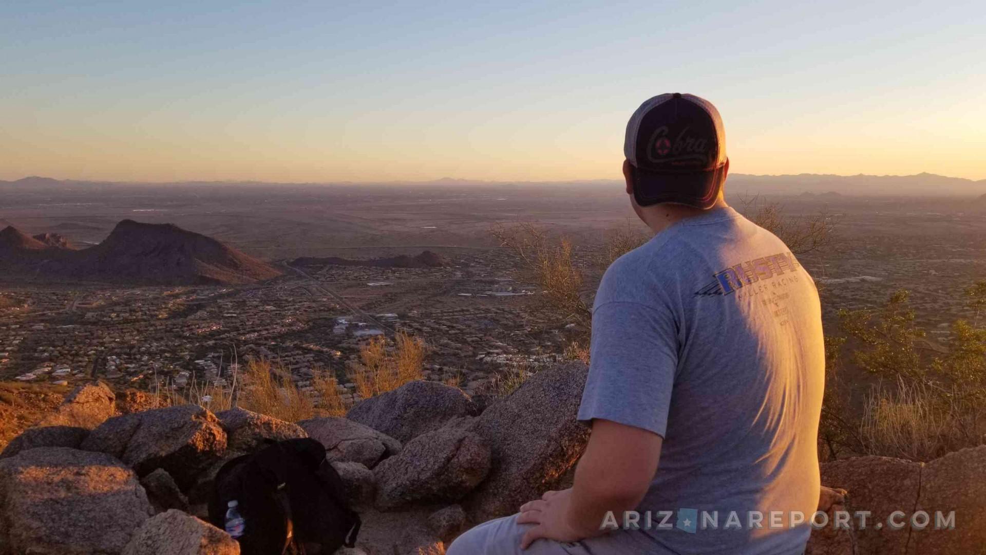 Sunrise Peak Trail McDowell Sonoran Preserve hike trail hiking peak summit sunset