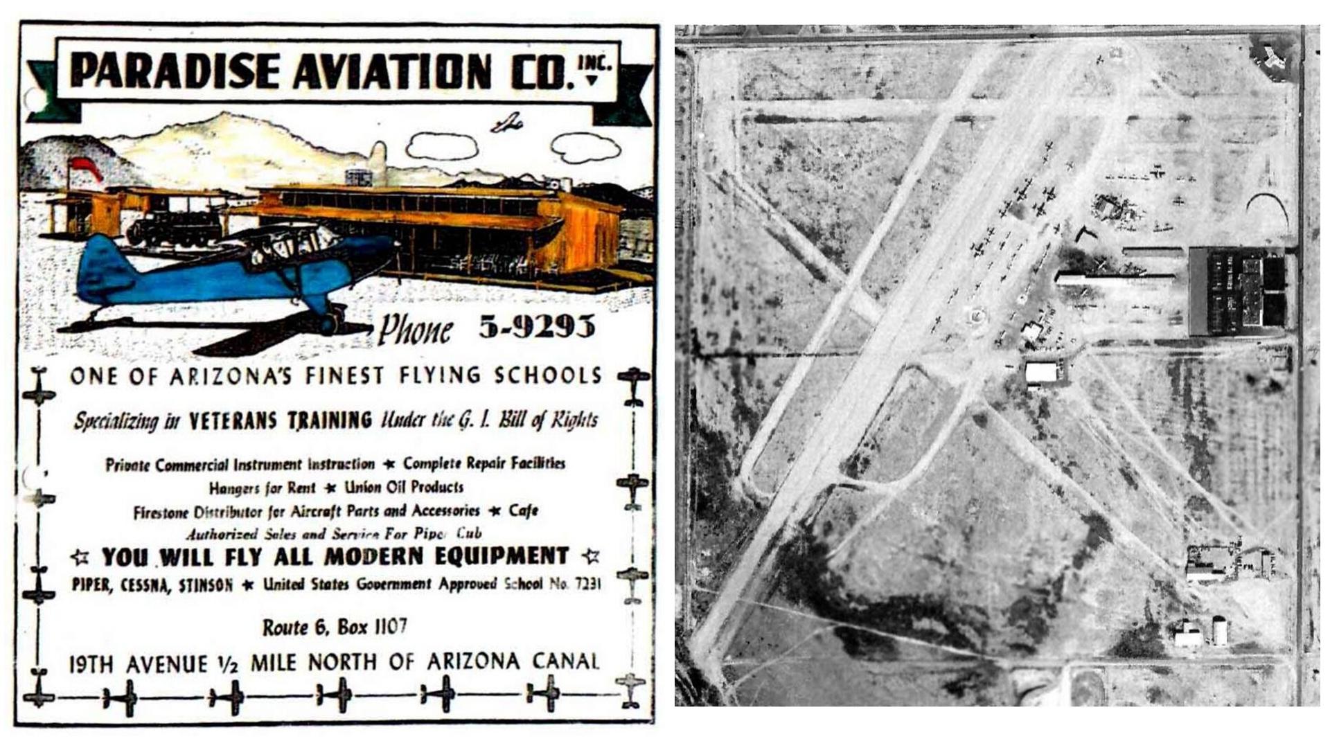 Paradise Airport Phoenix Arizona abandoned airfields World War II WW2