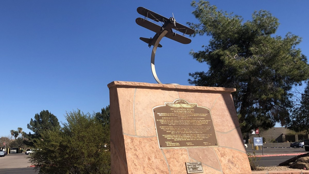 Thunderbird 1 Pilots Memorial and plaque